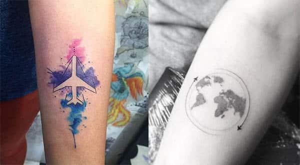 tatuajes de aviones para mujeres