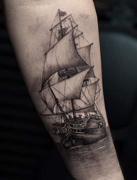 tatuajes de barcos para hombres