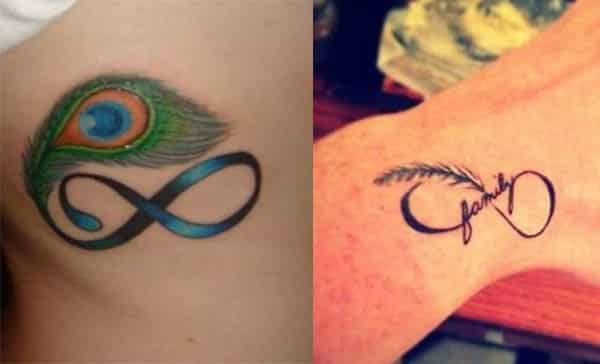 tatuajes de infinito con nombres