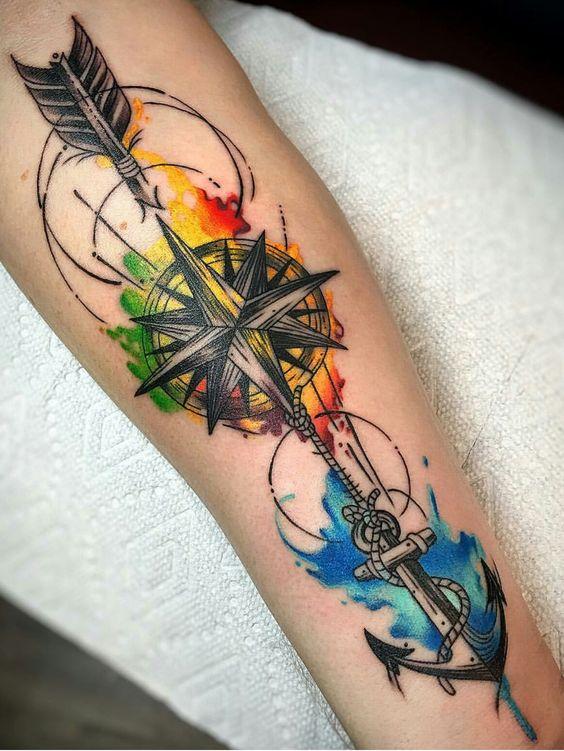 ancla tatuaje para mujer en el brazo 1 - Tatuajes de anclas más de 40 diseños y los significados más populares