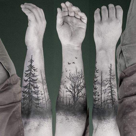 arbol muriendo tatuado