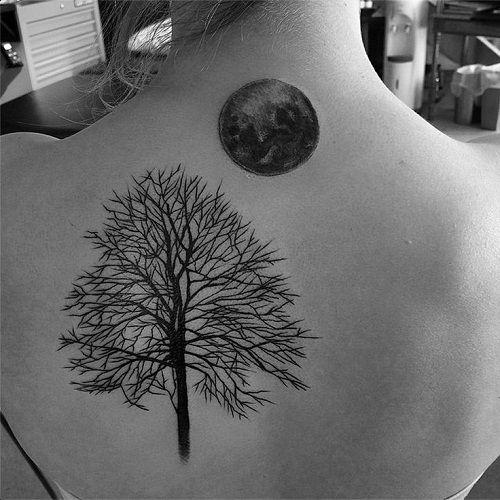 arbol seco y luna