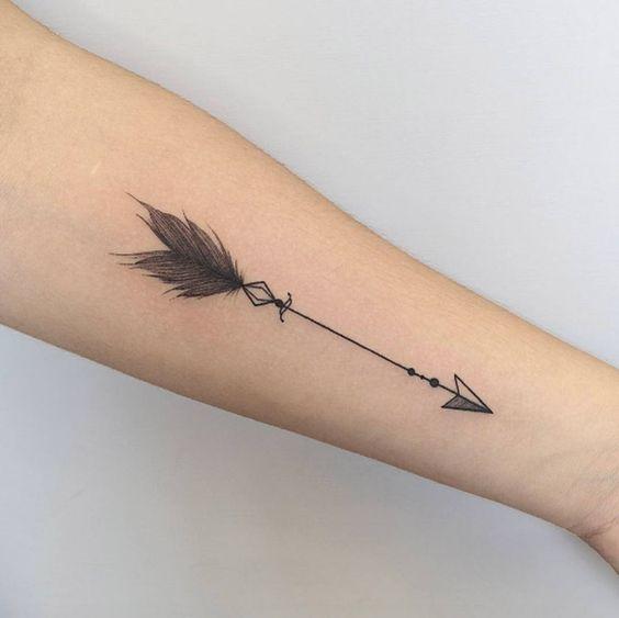 flecha diseño tatuaje