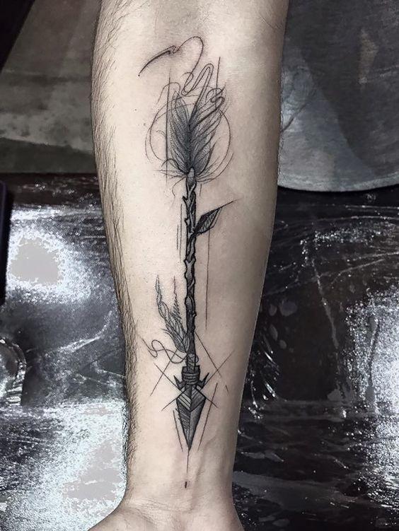 flecha en el brazo