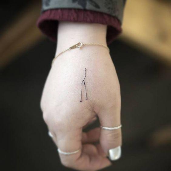 pequeño tatuaje en la muñeca