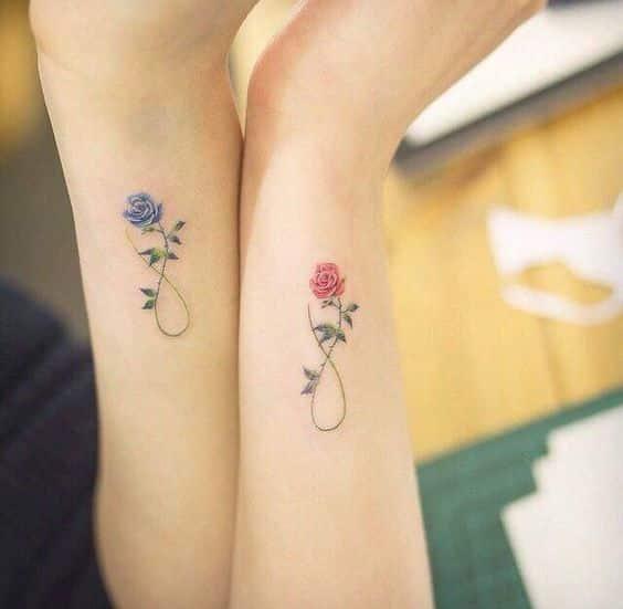 rosas diseño infinito - +40 tatuajes de infinito con diferentes diseños y combinaciones