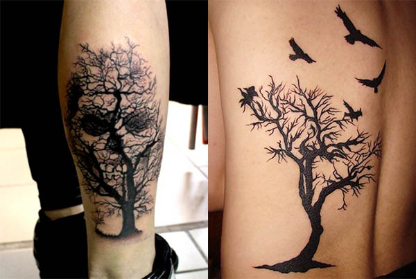 tatuaje arbol muerto
