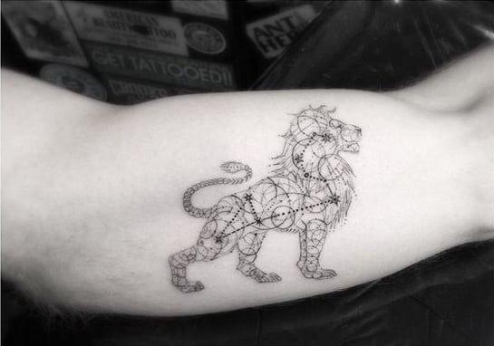 tatuaje de leo