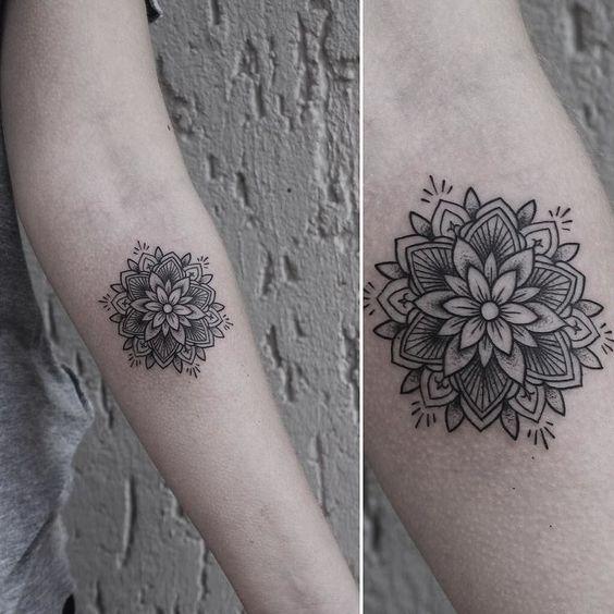 tatuaje de mandala pequeño