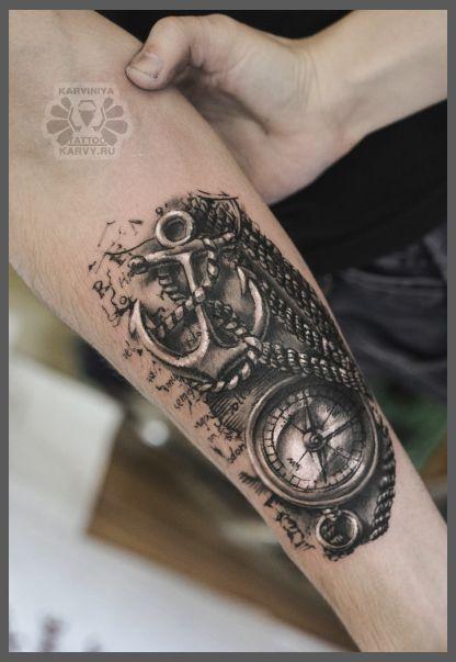 tatuajes de ancla en el brazo hombres 4 - Tatuajes de anclas más de 40 diseños y los significados más populares