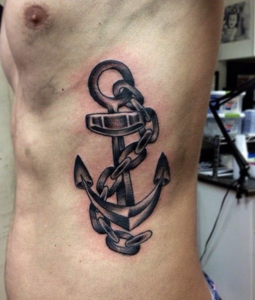 tatuajes de ancla para hombres pecho 3 - Tatuajes de anclas más de 40 diseños y los significados más populares