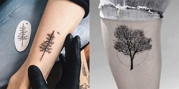 tatuajes de arboles para hombres