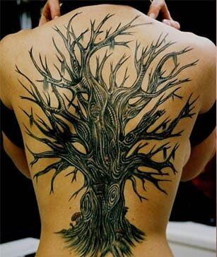 tatuajes de arboles secos