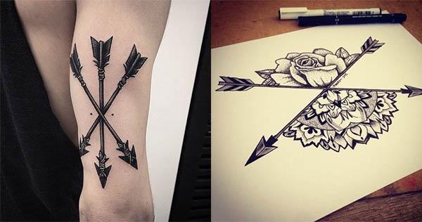 tatuajes de flechas cruzadas