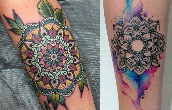tatuajes de mandala a color
