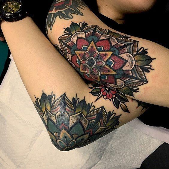tatuajes de mandalas a color