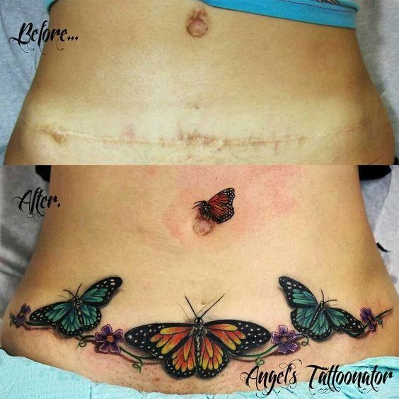 Tatuajes En El Abdomen Con Diferentes Diseños Y Tamaños