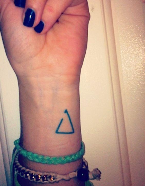 Tatuaje De Triángulo En La Muñeca