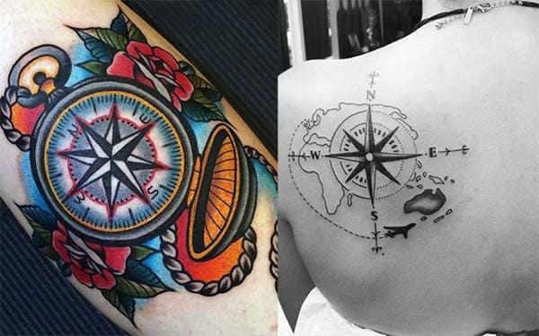tatuajes de brujulas