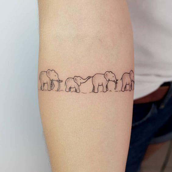 Tatuajes Manada Elefantes