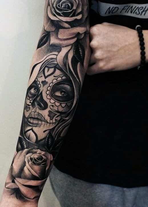 tatuajes de catrinas para hombres