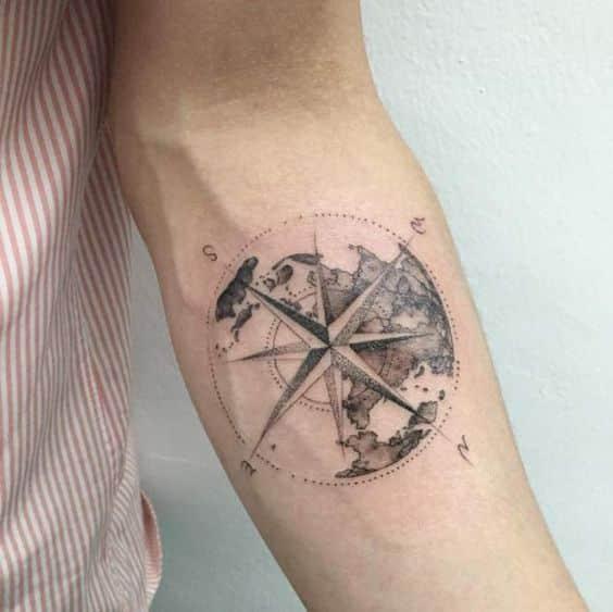 90 tatuajes de br julas hombres mujeres dise os for Bussola tattoo significato