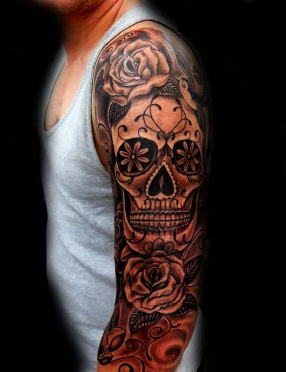 calavera mexicana hombres - +60 Tatuajes de catrinas, diseños, significados y su representación