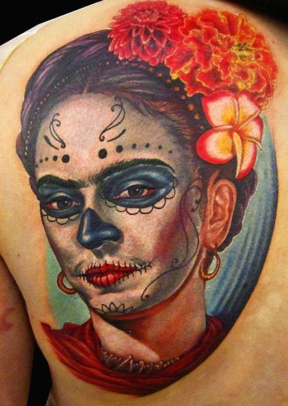 tatuajes de catrinas a color