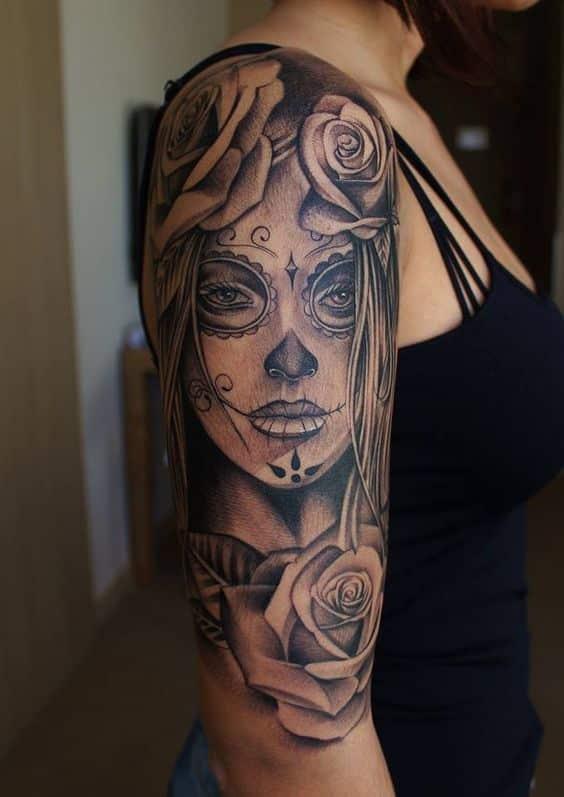 tatuajes de catrinas chicas