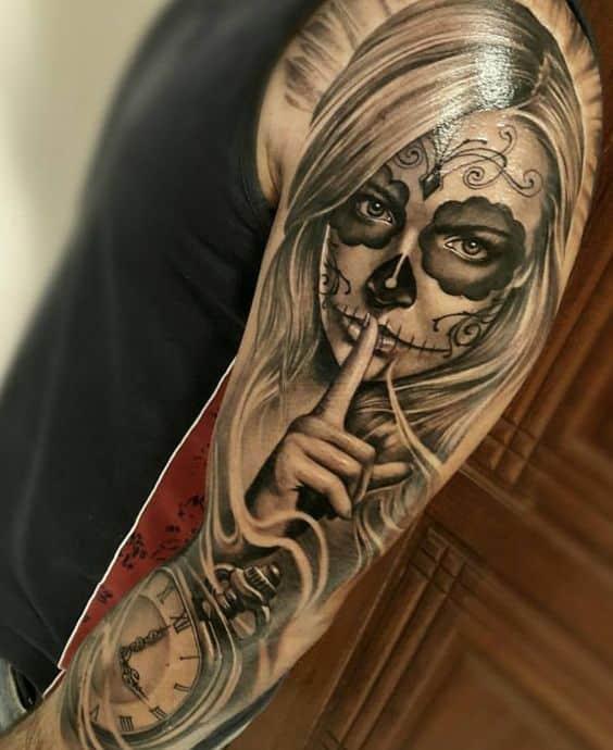 catrina tatuaje - +60 Tatuajes de catrinas, diseños, significados y su representación