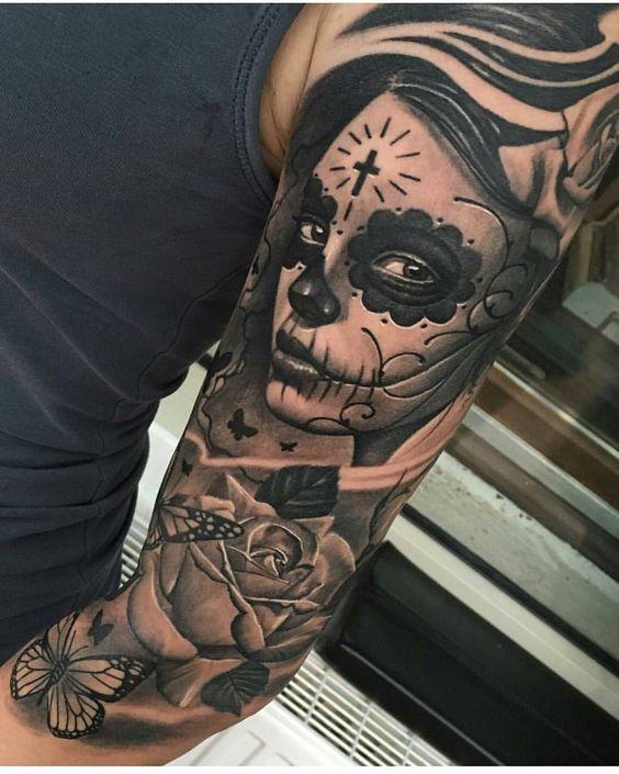tatuajes de catrinas diseño 2