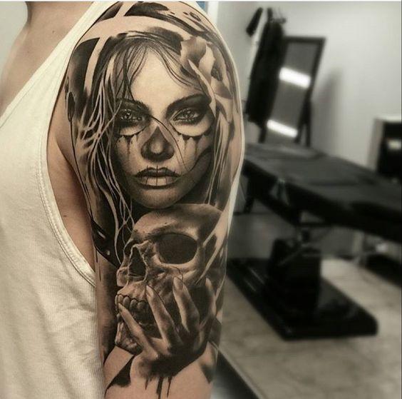 tatuajes de catrinas diseño 3