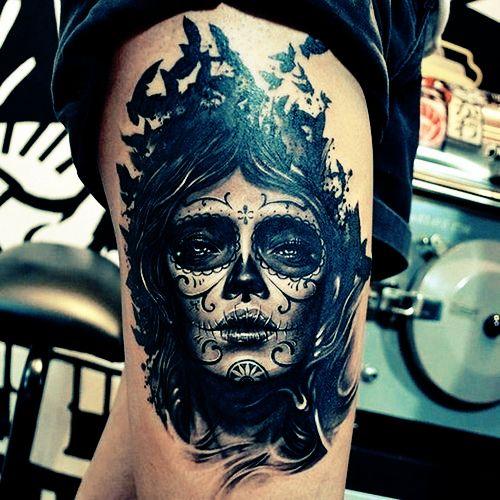 diseño catrina tatuaje - +60 Tatuajes de catrinas, diseños, significados y su representación