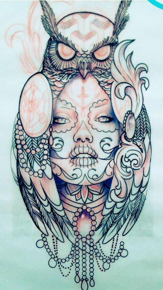 tatuajes de catrinas diseño