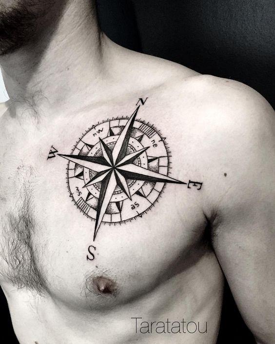 90 tatuajes de br julas hombres mujeres dise os significados. Black Bedroom Furniture Sets. Home Design Ideas