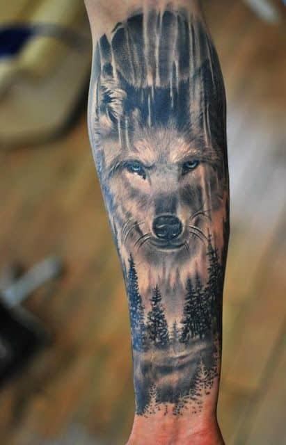 Tatuajes para hombres lobo