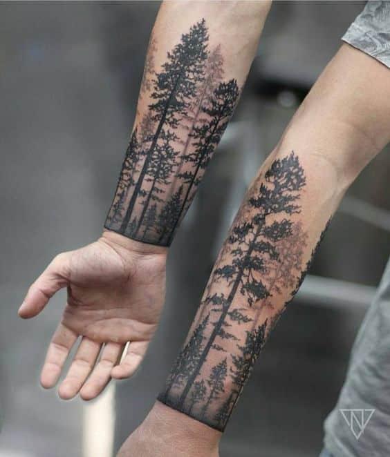 Tatuajes para hombres arbol