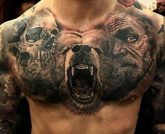 diseños para tatuar en el pecho en hombres 1 - +80 Tatuajes para hombres ideas y diseños populares en 2018