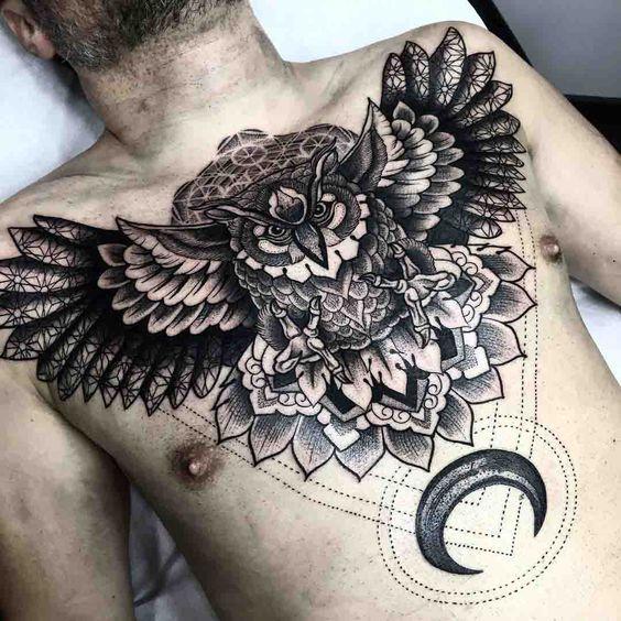 diseños para tatuar en el pecho en hombres 5 - +80 Tatuajes para hombres ideas y diseños populares en 2018