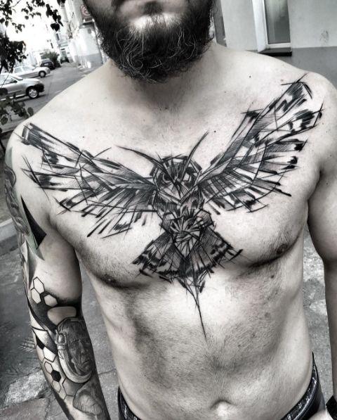 diseños para tatuar en el pecho en hombres 8 - +80 Tatuajes para hombres ideas y diseños populares en 2018