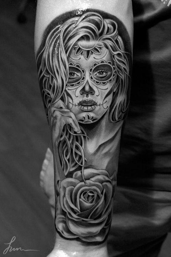 tatuajes de catrinas mujeres