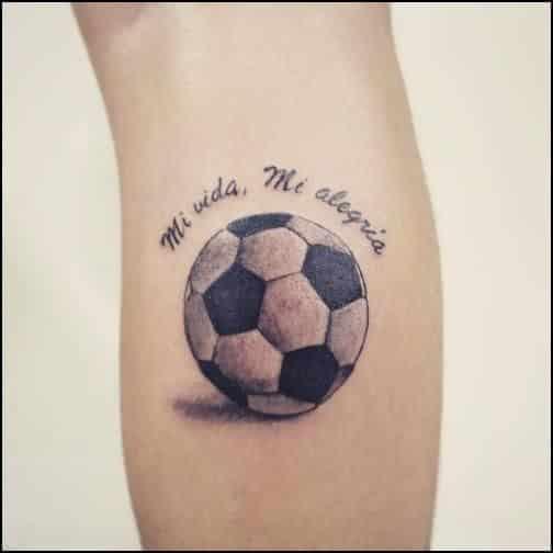 40 Tatuajes de futbol frases y diseos para hombres y mujeres