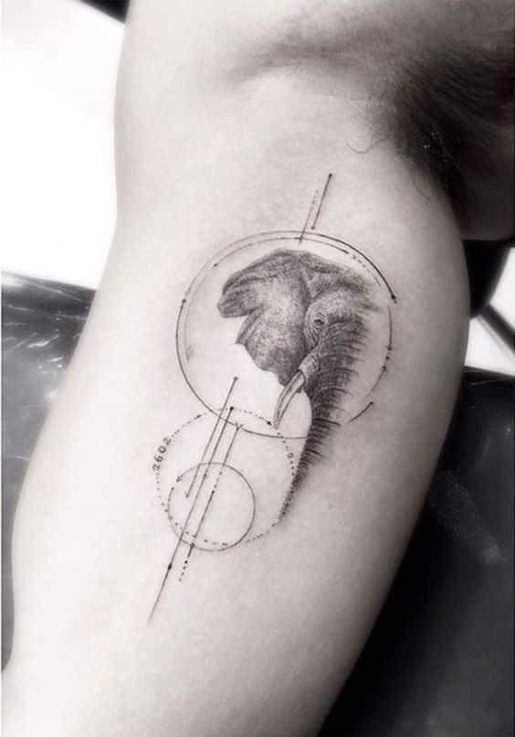tatuajes de elefantes hombres