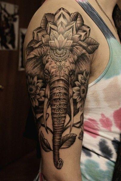 hombres tattoo elefante 3 - +40 Tatuajes de elefantes, significados - diseños en hombres y mujeres