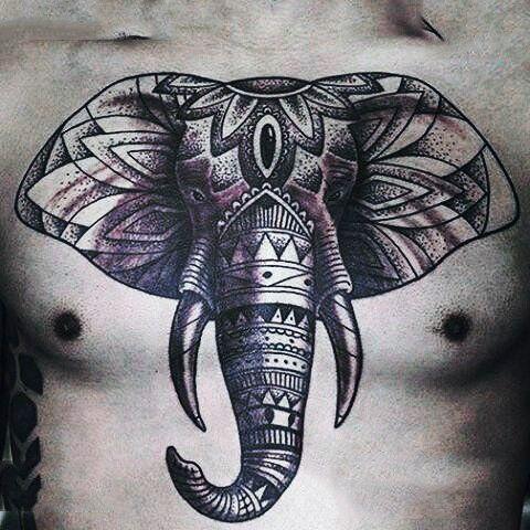 hombres tattoo elefante 5 - +40 Tatuajes de elefantes, significados - diseños en hombres y mujeres