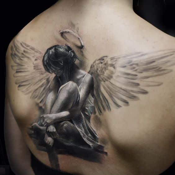 tattoos en la espalda hombres 3 - +80 Tatuajes para hombres ideas y diseños populares en 2018