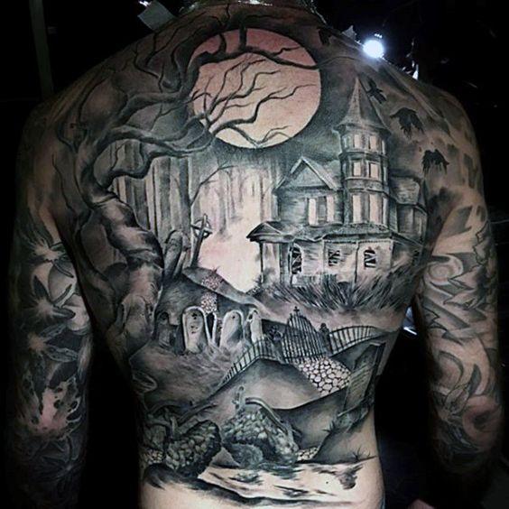 tattoos en la espalda hombres 4 - +80 Tatuajes para hombres ideas y diseños populares en 2018