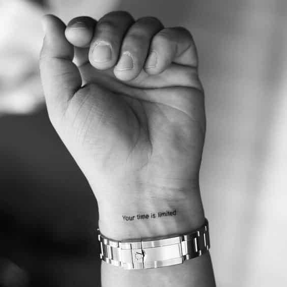 Tatuajes para hombres letra