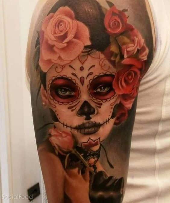 tatuajes de catrinas color