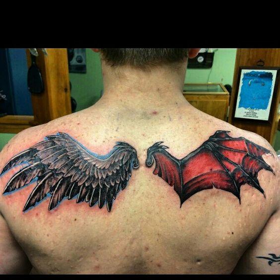 Tatuajes de demonio alas